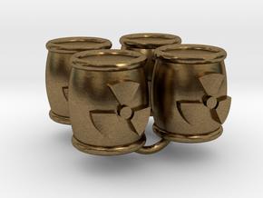 Power Grid Uranium Barrels - Set of 4 in Natural Bronze