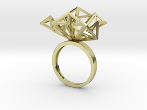 Geometric Jungle Ring in 18k Gold Plated Brass: 7 / 54