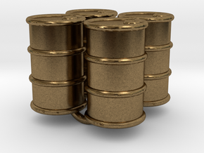 Power Grid Oil Barrels - Set of 4 in Natural Bronze