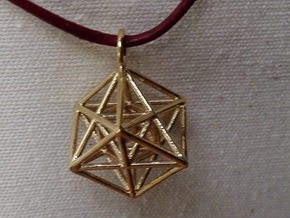 Metatron's Cube with ring in Polished Brass