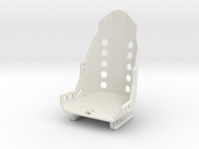 Racing Seat W Rails 1/25 in White Strong & Flexible