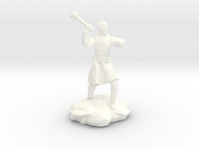 High Elf (Eladrin) Monk With Mace in White Strong & Flexible Polished