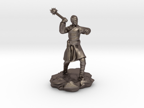High Elf (Eladrin) Monk With Mace in Polished Bronzed Silver Steel