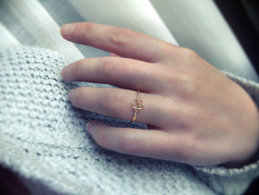 Anchor Of Hope Ring  in Polished Brass: 6 / 51.5