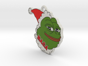Pepe le frog Trump MAGA ornament in Full Color Sandstone