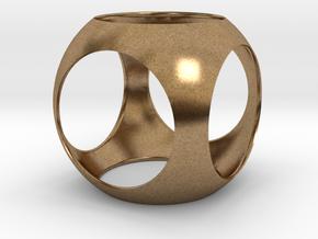 Ball D100 mm in Natural Brass