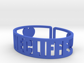 Pinecliffe Cuff in Blue Processed Versatile Plastic