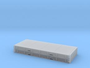 1:87 2 X 20 Plattform Container Metallboden in Frosted Ultra Detail