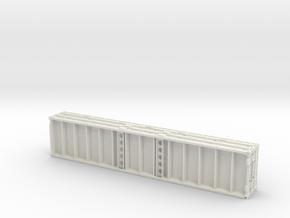 1:87 Plattform Container 2x 20ft + 2x 40ft in White Natural Versatile Plastic