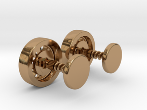 Formula 1 Wheel cufflinks in Polished Brass