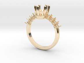 Custom Oval Set Style 4.5 in 14K Yellow Gold