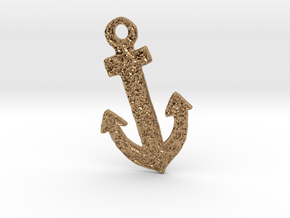 Celtic Anchor Pendant 1 by Gabrielle in Polished Brass