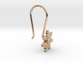 Flower Earring With Hook in 14k Rose Gold