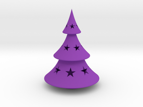 Xmas Tree Simple in Purple Strong & Flexible Polished