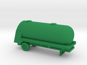 1/200 Scale M-388 Alcohol Tank Trailer in Green Strong & Flexible Polished