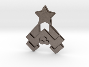 Nakatomi Badge in Polished Bronzed Silver Steel
