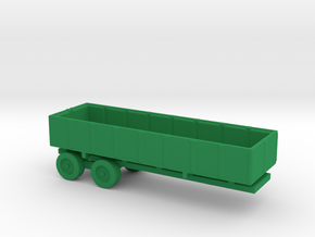 1/200 Scale M-35 Cargo Trailer in Green Strong & Flexible Polished
