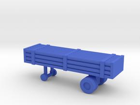 1/200 Scale Nitrogen Tank Trailer in Blue Strong & Flexible Polished