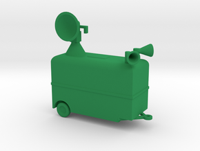 1/144 Scale Radar Trailer in Green Strong & Flexible Polished