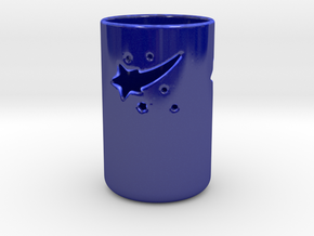 Falling Star Candle Holder in Gloss Cobalt Blue Porcelain