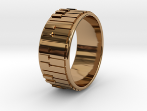 Piano Ring - US Size 12.5 in Polished Brass