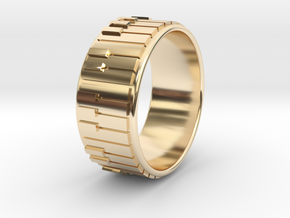 Piano Ring - US Size 12.5 in 14k Gold Plated Brass