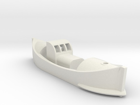 1/144 Scale Lifeboat in White Natural Versatile Plastic
