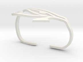 Eye of Horus Two Finger Ring in White Natural Versatile Plastic