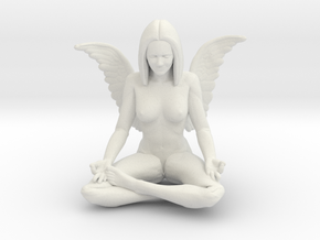 60mm Angel.STL in White Strong & Flexible