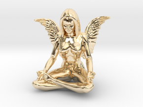 Angel-45mm Angel.STL in 14k Gold Plated Brass