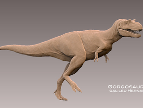Gorgosaurus1:35 v1 *scaly skin in White Strong & Flexible