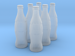 1/18 scale Cola bottles in Smooth Fine Detail Plastic