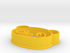 Pandahead Cookiecutter in Yellow Processed Versatile Plastic