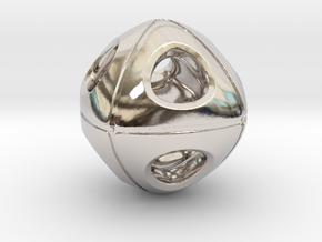 Cuboidish Necklace in Platinum