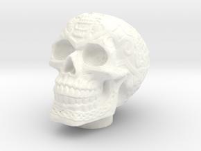 Skull Chuff Cap in White Processed Versatile Plastic