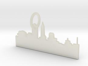 Skyline Keychain in Transparent Acrylic