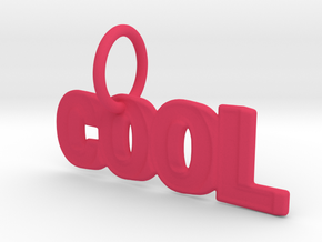 Cool Keychain in Pink Processed Versatile Plastic