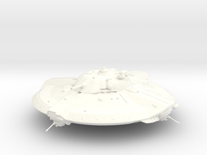 Valkyrie UFO from Iron Sky 2012 in White Strong & Flexible Polished