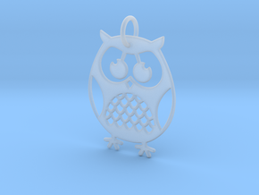 OWL Keychain in Smooth Fine Detail Plastic