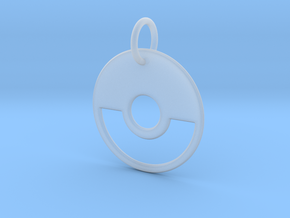 Ball Keychain in Smooth Fine Detail Plastic