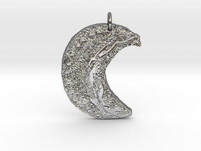 Crescent Moon Goddess Art Deco by Gabrielle in Polished Silver