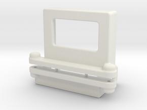 Schumacher Big 6 3S Lipo mount in White Natural Versatile Plastic
