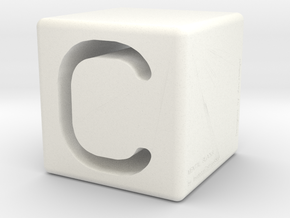 Mental Block C in White Processed Versatile Plastic