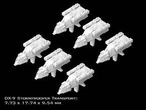 (Armada) 6x DX-9 Stormtrooper Transport in Smooth Fine Detail Plastic
