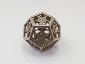D12 Epoxy Dice in Stainless Steel