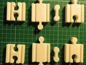 Lillabo, Brio, All Connectors (set Of 8) in White Strong & Flexible