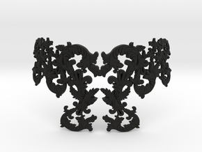 Ornamental Necklace in Black Natural Versatile Plastic