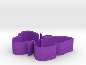 Butterfly Box Base in Purple Processed Versatile Plastic