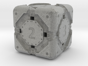 High-Detail Heavy Sci-Fi Dice D6 in Metallic Plastic: d6