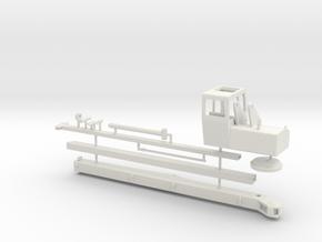 1/50th Oilfield Heavy Picker Type Crane in White Natural Versatile Plastic